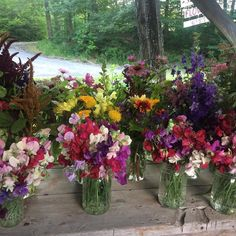 Flowers galore at our farm stand.  #tistheseason#localflowers #slowflowers #buylocal