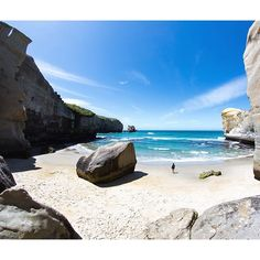 Tunnel Beach - an unusual place in New Zealand