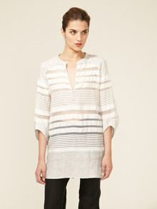 Rachel Roy Metallic Mixed Stripe Tunic