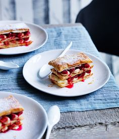 Rhubarb millefeuille