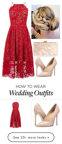 """Wedding Guest"" by girlinthesteelcorset on Polyvore featuring Warehouse, Massimo Matteo and Edie Parker"