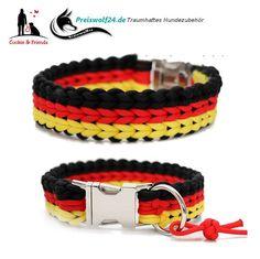 "Paracord Hundehalsband ""WATERFALL"" 3,5 cm breit"