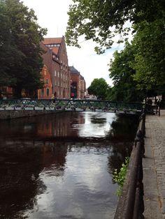 The Fyris River in Uppsala, Sweden