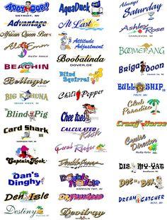 boat names and graphics | Boat Names