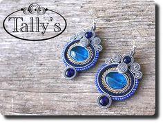 Zobacz produkt: Kolczyki niebieski akryl
