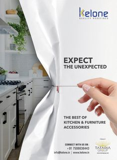 furniture advertising Unveil a breathtakingly beautiful kitchen with the best of kitchen and furniture accessories by Kelone. Ads Creative, Creative Advertising, Advertising Design, System Furniture, Furniture Ads, Furniture Hardware, Furniture Layout, Kitchen Furniture, Ad Design