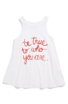 by 4 Love:  'Be True to Who You Are' Sleeveless Top (Tween Girls) available at #Nordstrom