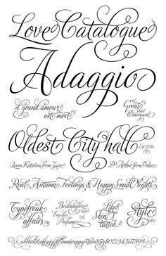 ideas about Romantic fonts on Pinterest   Cursive fonts Tattoo fonts ...