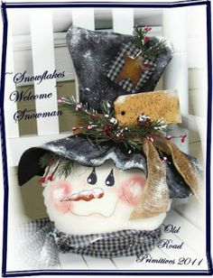 Cathy's Craft Corner: Snowmen for the Family