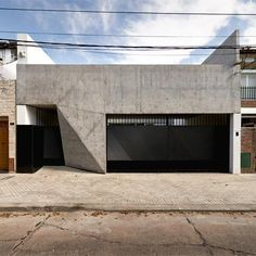 Triangular facets give a folded appearance to the concrete facade of this house: http://www.dezeen.com/2015/03/05/casa-t-g-nicolas-campodonico-argentina-house-concrete-facade/ … #architecture