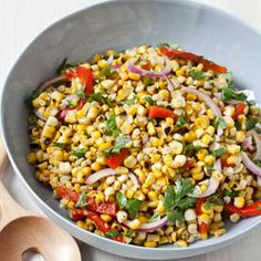 If there is room on the grill, the peppers and corn can be cooked at the same time.