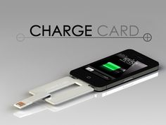 ChargeCard for iPhone and Android is a USB card that's thin enough to fit easily into your wallet, purse or pocket.