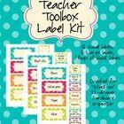 EDITABLE Teacher Toolbox Kit - Turquoise Dot Theme - Kristen Doyle