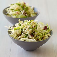 This mayo-free slaw is a fresh, crisp take on the soggy standby. Jicama, walnuts and apple give it great crunch.  Obviously no walnuts for me!
