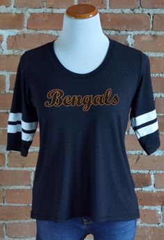 Team 44 Apparel - IDAHO STATE UNIVERSITY, RINGER TEE with Nailhead 'Bengals' Logo
