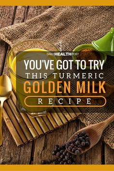 Enjoy The Benefits of Turmeric With This Golden Milk Tea Recipe (You're Going To Love It!) via @dailyhealthpost