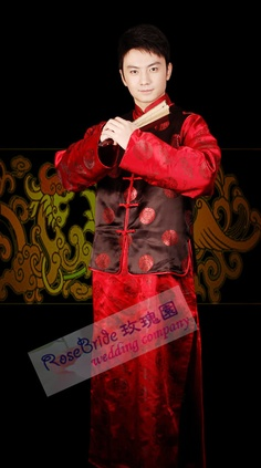 """Chinese traditional """"suit"""" for men Mens Traditional Wear, Traditional Wedding, Ao Dai, Wedding Suits, Mens Suits, Chinese, Asian, Costumes, History"""