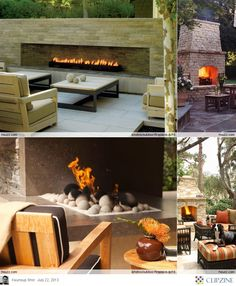 Outdoor Fireplace Ideas... Design service now available in the shoppes at Ashley Carol Home & Garden