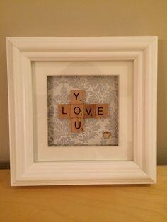 Love You Scrabble Picture