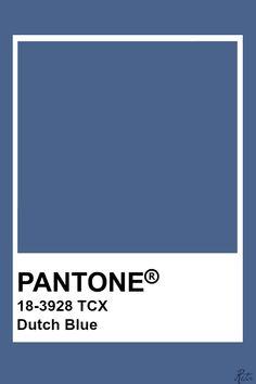 Pantone Dutch Blue Pantone Tcx, Pantone Blue, Pantone Swatches, Pantone Colour Palettes, Color Swatches, Pantone Color, Wall Colors, Paint Colors, Neutral Colour Palette
