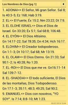 Los nombres de Dios (1)
