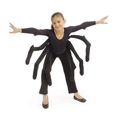 no-sew spider costume #kids #halloween