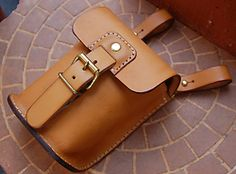 Rakuten: Vegetable tanning leather belt pouch made by japanese craftman[nouki]- Shopping Japanese products from Japan