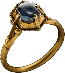 Sapphire ring, Gold with Sapphire, claw set in hexagonal bezel, 14th Century.