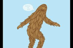 Sasquatch does the booty dance