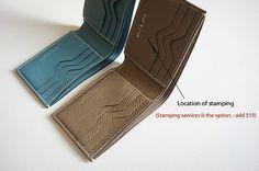 Handmade all togo leather half Wallet Men's wallet por dextannery