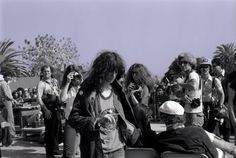 1978 Patti Smith in the parking lot behind Licorice Pizza on the Sunset Strip
