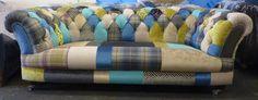 Chesterfield Sofa in individuellem Patchwork. www.kippax-sofas.de