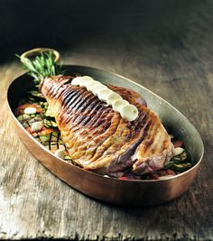 Fish And Meat, Grill Pan, Grilling, Pork, Salt, French, Christmas, Fine Dining, Eggplants