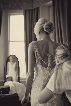 Wedding photo getting ready