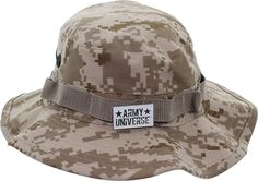 Camouflage Hunting Fishing Wide Brim Boonie Bucket Hat with ARMY UNIVERSE Pin *** Awesome outdoor product. Click the image : Camping stuff
