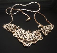 Extremely rare Max Neiger designed Art Deco Chinese themed necklace. Czechoslovakia, 1922.  Notice the attention to detail on the back.  Emblematic of this craftsmans workd.    The Neigers (Max & Norbert and both their families) were part of the Nazi 'Final Solution' and killed at the extermination camp in Auschwitz.
