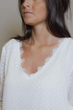 Blouse Bari plumetis blanc