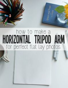 How to Build your Own Horizontal Tripod Attachment for Flat Lay Photography - Hawk Hill Photography Journal, Flat Lay Photography, Photoshop Photography, Photography 101, Product Photography, Diy Tripod, Flat Lay Photos, Perfect Angle, Take Better Photos