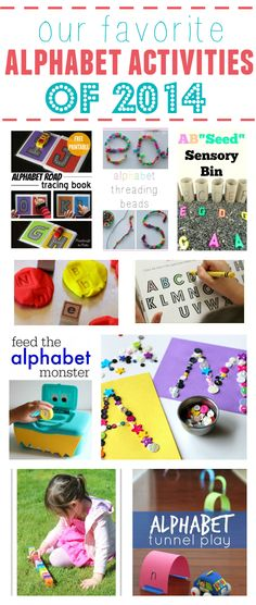 This is a great collection of alphabet activities from No Time For Flash Cards and other great blogs! Fun hands on learning for preschool and kindergarten.