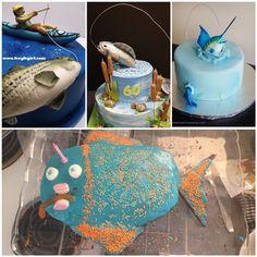 Fishing-themed cake inspiration #fishing #cakedecorating
