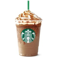 Italian Treat Inspires Starbucks Affogato-Style Frappuccino ❤ liked on Polyvore featuring food and starbucks