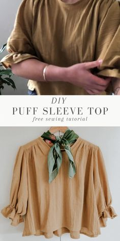 Sewing Hacks, Sewing Tutorials, Sewing Projects, Sewing Patterns Free, Free Sewing, Fashion Sewing, Diy Fashion, Sewing Clothes, Diy Clothes