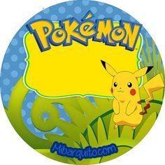 Etiqueta redonda pokemon personajes