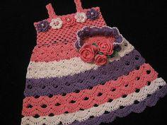 Hand made by Cristina: Вязанные платья для девочек