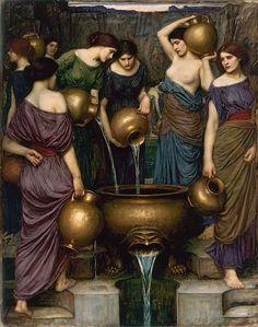 "templeofapelles: "" John William Waterhouse (Rome, 1849-London, 1917) The Danaïdes, 1888, Aberdeen Art Gallery and Museum """