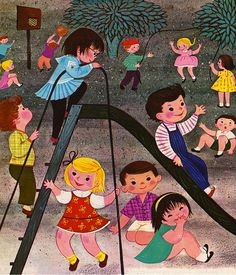"livingnowisliving: ""Edith van den Heuvel saved to vintage illustrations Play: A Happy Nursery Book | Flickr - Photo Sharing! """