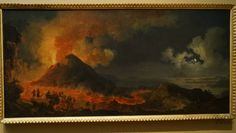 The Eruption of Vesuvius, 1771. By Pierre-Jacques Volaire (1729 – 1790s), French.