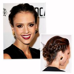 finally have hair long enough to play plaits :)    Jessica Alba-hair-braid