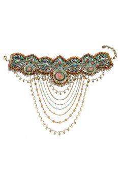 Vintage Lace Necklace 14077 - Michal Negrin