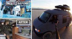 #интересное  Путешествие по Америке на переделанном бабушкином фургоне (20 фото)   Американский фотограф и путешественник Трэвис Берк (Travis Burke) переделал фургон свой бабушки в дом на колесах и вот уже в течение двух лет путешествует на нем по всей Америке. Деньги �